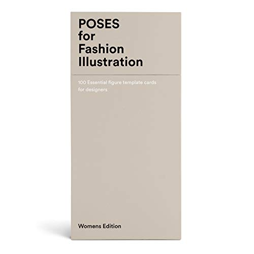 Poses for Fashion Illustration (Card Box): 100 essential figure template cards for designers