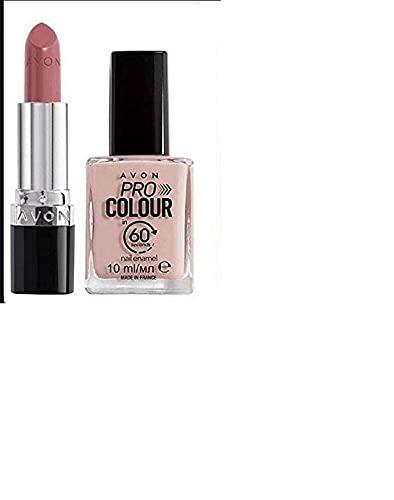 Avon Lippenstift/Nagellack Set Nude/Posh Petal
