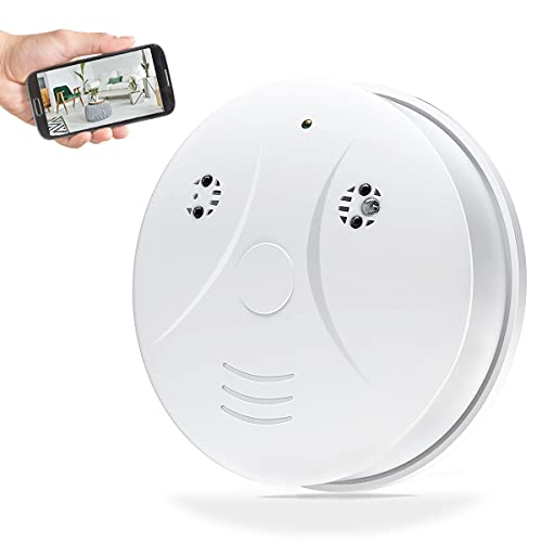 Poetele HD 1080P WiFi Hidden Camera Smoke Detector, Mobile Phone Remote Monitoring Motion Detection Mini Video Recorder for Home Office Store