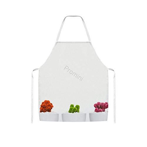 Promini 100% Polyester Volwassen Apron, Kunst Mooie Bloom Keuken Apron, Koken Bakken Schorten Zonder Zakken, Chef Schort Voor Mannen En Vrouwen