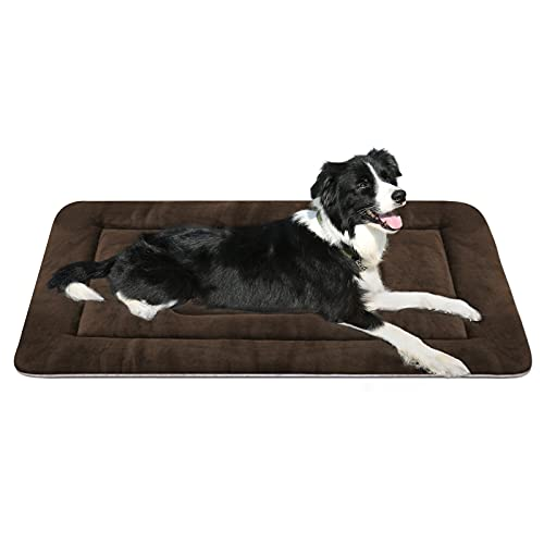 Dog Beds for Medium Dogs Crate Bed Pad Mat 36 inch Soft Washable Pet Beds Non Slip Mattress Kennel Pads