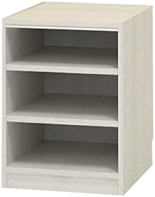 白井産業 木製 本 棚 高さ60 幅50 奥行44 cm オーダーメイド 置きたい場所ピッタリに作れる 収納 ホワイト オーク 棚板2枚 (タナリオ TNL-EM6050FTF2WH0)