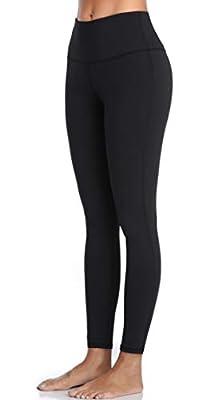 Oalka Women Yoga Pants Workout Running Leggings Black XXL