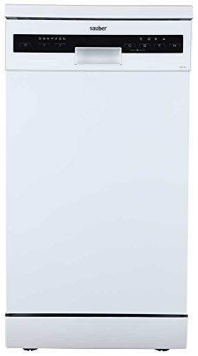 Sauber - Lavavajillas 45 cm SDW455 A++ 10 cubiertos - Blanco - 3 bandejas