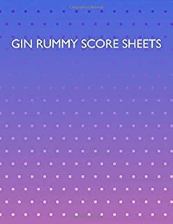Gin Rummy Score Sheets: A pad of scoresheets: Perfect for scorekeeping: Vol. 22
