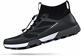 SANDUGO MTB Mountain Bike Cycling Shoes for Men,2 Bolts Suitable All SPD Pedals(XC/AM), Compatible with Peloton Lightweight and Comfortable,Black 10