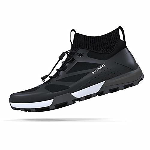 Zapatillas de montaña para Hombre SANDUGO MTB, aptas para 2 Tornillos SPD. Compatible con Shimano, Pedales Crankbrothers, Ligeras y cómodas, Zapatillas de Ciclismo Negras para Hombre