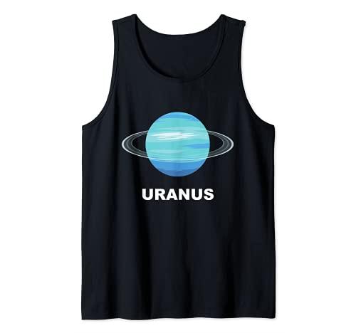 Trajes de grupo de sistemas solares  Disfraz de Planeta Urano gigante Camiseta sin Mangas