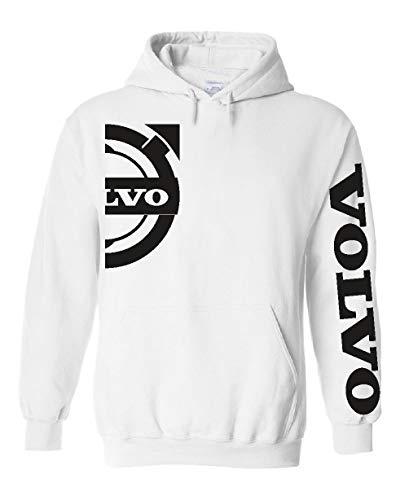Generico Sweatshirt Hood Volvo Logo Holland Truck Style. von S bis XXXL (S, Weiß)
