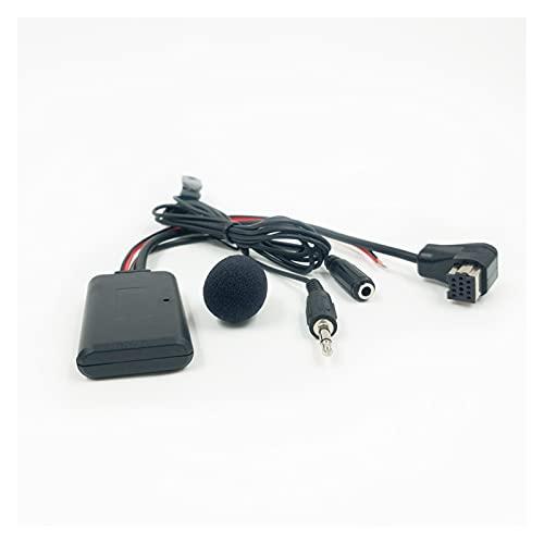ZIMEI MEIKAI Adaptador de música de 2 Estrellas Bluetooth AUX-in Wireless Audio Teléfono móvil Manos Libres Adaptador Fit para Pioneer Radio IP-Bus (Color Name : Bluetooth Mic)