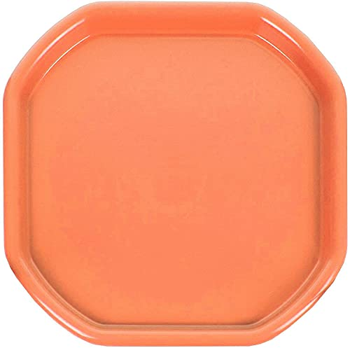 JMS we create smile Children Kids Tuff Spot Colour Mixing Tray Small Plastic for Playing Toy Sand Pool Pit Water Game Animal Figures etc. - MADE IN UK (Orange)