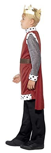 Smiffys Kinder King Arthur Kostüm, Mittelalterliche Tunika mit angebrachtem Umhang und Krone, Größe: S, 44079 - 2