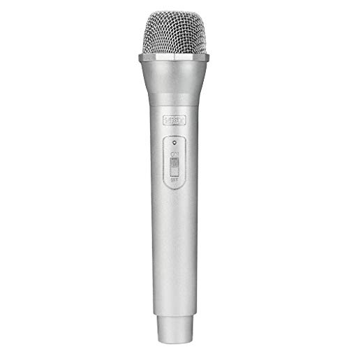 Sharplace 2x Micrófono Inalámbrico de Plástico Artificial Apoyos Micrófono Juguete de Mano Plata