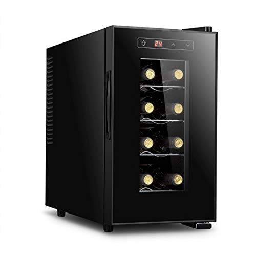 Enfriador de vino electrónico de encimera, refrigerador de vino tinto independiente, controles de pantalla táctil, 8 botellas, pequeña bodega de vino blanco, control digital vertical para bar en casa,
