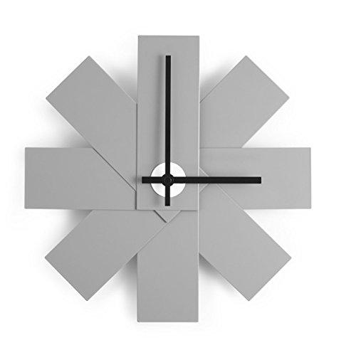 Normann Copenhagen Watch Me Orologio da Parete, Alluminio, Grigio, 28,5 cm