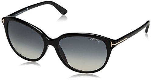 Tom Ford FT0329 01B 57 gafas de sol, Negro (Negro LucidoFumo Grad), 57.0 para Mujer