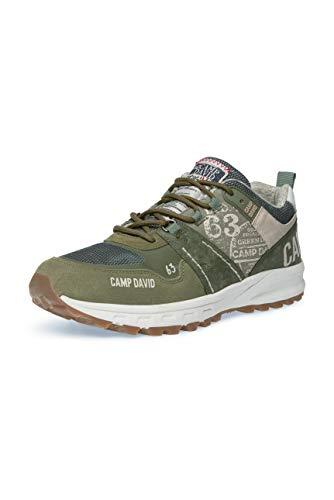 Camp David Herren City Hiking Sneaker mit Logo-Applikationen