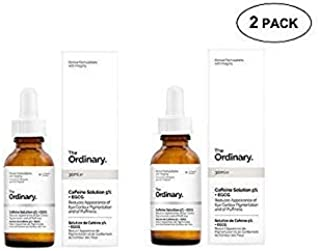 (2 Pack) - 2 Pack of The Ordinary Caffeine Solution 5% + EGCG (30ml): Reduces Appearance of Eye Contour Pigmentation and P...