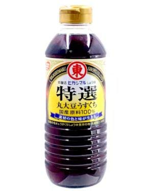 #RT Higashimaru Tokusen Special Grade Maru Daizu Usukuchi Soy Sauce 500ml -Special amazake to create a mellow and rich umami in a light colour. Great for a variety of dishes.