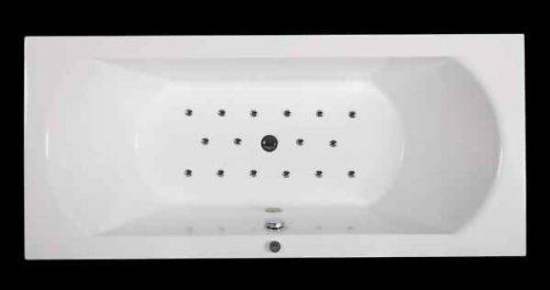 Jet-line Whirlpool Whirlwanne Badewanne Villa Roma\' mit Farblichttherapie und Massagefunktion