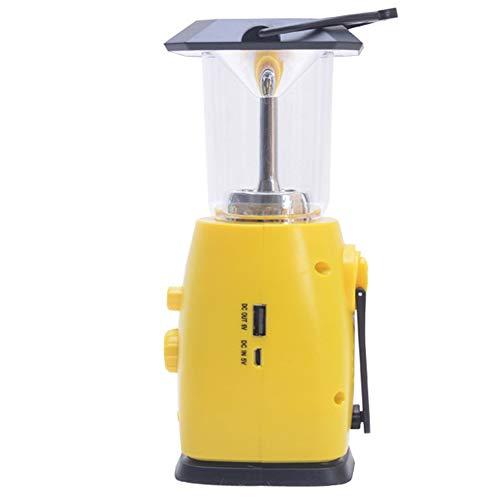 Oplaadbare noodweerradiolamp op zonne-energie, multifunctionele, draagbare powerbank, handslinger campinglamp