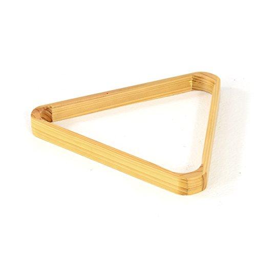 Nipach Triangel aus Holz Dreieck für Billard Snooker Pool Standard für 57,2mm Kugel Bälle naturfarben