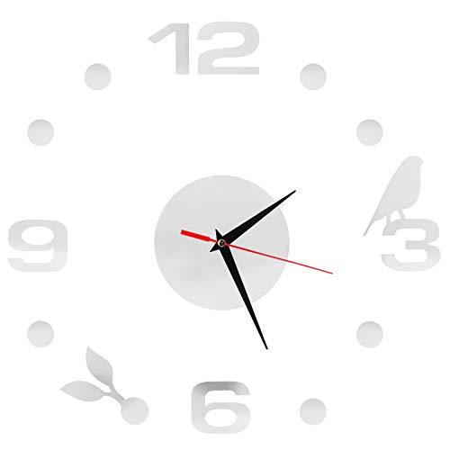 01 Calcomanía de Reloj de Bricolaje, Reloj de Pared sin Marco, Adhesivo para Reloj, Reloj sin Marco, fácil de Pegar, Reloj de Pared con Pegatinas Adhesivas para baldosas de cerámica para Pared
