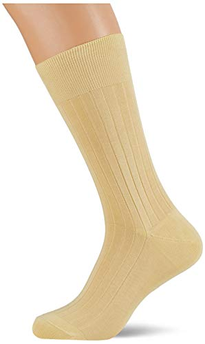 Hackett Mens SOLID Socks, 026SOFT Yellow, ML