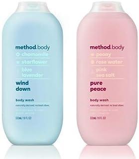 Method Body Body Wash - Wind Down & Pure Peace - Set of 2 (Each 18 fl oz 532 ml)