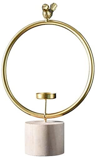 Tenedor de Vela geométrica Hierro Forjado Pájaro de Hierro candelero Cena de la luz de Las Velas Proporabuena Nordic Aromatherapy Vela Titular de la Vela Decorativo (Tamaño: 14.5 x 24 cm)