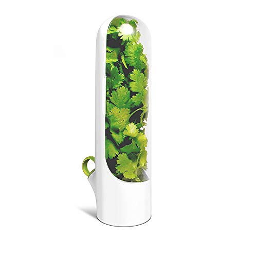 Conservador de hierbas - Almacenamiento para hierbas frescas o Vainilla - Verduras frescas - Contenedor plástico - Botella de Conservación de Vegetales.