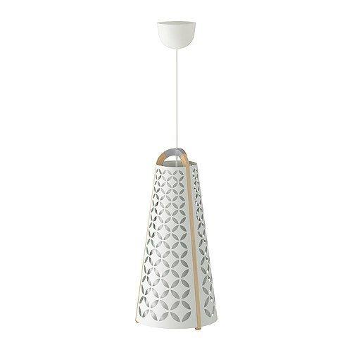 """IKEA Hängeleuchte\""""TORNA\"""" Designer-Hängelampe aus Massivholz mit weißem Kunststoffeinsatz - Durchmesser: 27 cm - Lampenschirmhöhe: 56 cm - Kabellänge: 1.4 m"""