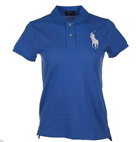 Ralph Lauren Big Pony - Polo para mujer azul XS
