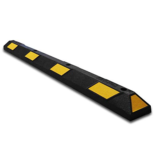 UvV Parkstop Radstop ParkAID 180cm in gelb/schwarz + Befestigung + Verschlussstopfen für die oberen Öffnungen