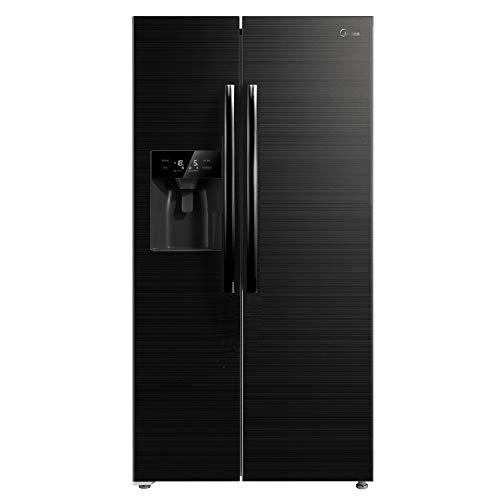 Midea KS 6.3 WT-DX eco Side-by-Side Kühl-gefrierkombination/A+++/178,8 cm/221 kWh/Jahr/338 L Kühlteil/165 L Gefrierteil/No Frost/Inverter-Technologie/mit 3in1 Wasser-/Eisspender und Wassertank