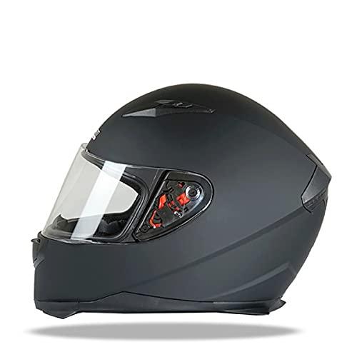 Casco de Moto Modular Bluetooth Integrado con un Micrófono Incorporado Anti Niebla Doble Visera Adultos Hombres Mujeres, ECE/DOT Homologado F,M=54~55CM