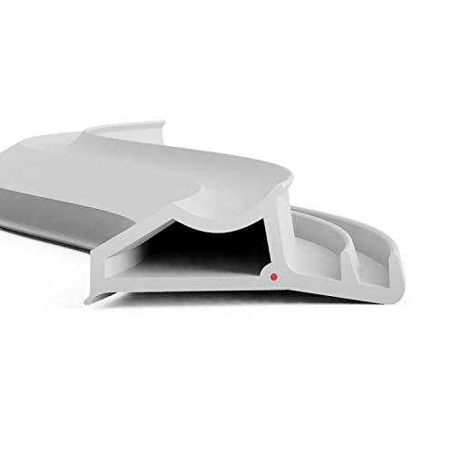DIWARO.® Stahlzargen-Dichtung SZ003   grau   5 lfm für Haus- und Innentüren. Zum Schallschutz und abdichten der Tür. Bestehend aus TPE (Thermoplastischen Elastomer)