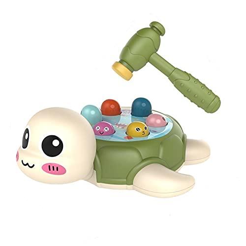 WEICHENG Juguetes para niños de 1 a 3 años de edad bebés y niños pequeños educación temprana rompecabezas dos o tres años de edad regalo de tortuga golpeando hámster