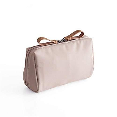 Beibaobao 1 Pc solido trucco cosmetico Bag stile coreano donne Pouch Bag toilette sacchetto impermeabile trucco dell'organizzatore di caso di Dropshipping (Color : Light pink)