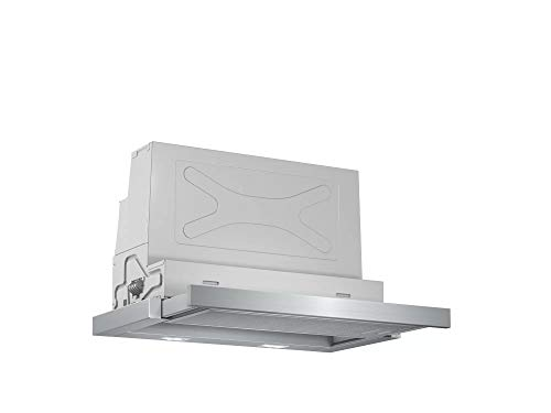Bosch Serie 4 DFS067A50 - Campana telescópica, 60 cm, 38,8 kWh/año, Color Plateado [Clase de eficiencia energética B]