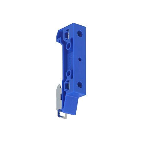 WITTKOWARE 10er-Pack Halterung für 35mm DIN-Hutschiene, 2X Gewinde M4, blau