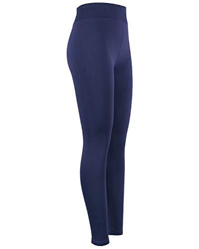 iloveSIA Women's Daily Ritual Leggings 4-Way Strecth High-Waist Pants Workout Leggings for Women Navy Leggings Size XL