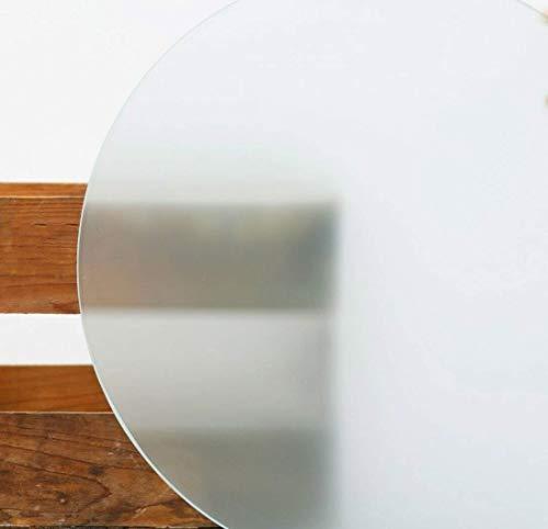 Glasplatte Rund Tischplatte Kreis satiniert 8mm stark Ø 70 cm Durchmesser Scheibe aus Glas für Küchentisch Schreibtisch Gartentisch Stehtisch Sofatisch Glasscheibe Tisch 8mm-Rund-satiniert-70cm