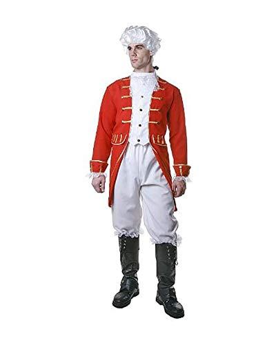 Dress Up America Costume victorien adulte, Rouge et Blanc (Comme la présentation), Small