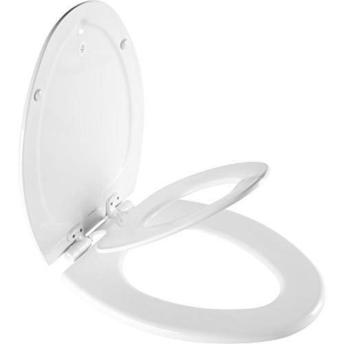 MAYFAIR 188SLOW 000 NextStep2 Toilet Seat with Built-In Potty Training Seat, Slow-Close, Removable that will Never Loosen, ELONGATED, White
