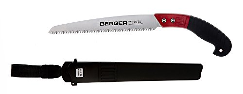 BERGER 64740 Scie d'élagage 240 mm avec fourreau de protection, Argent/Rouge, 45 x 12.5 x 4.5 cm