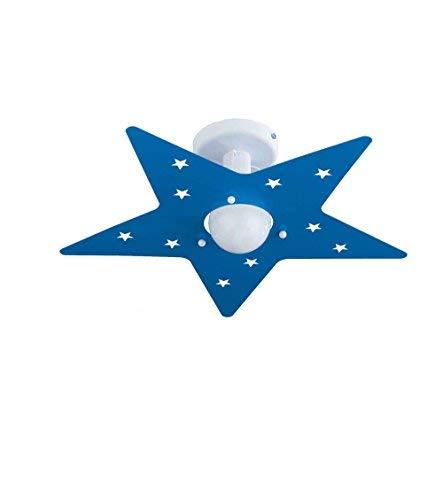 Plafoniera per Camerette Stella Azzurro