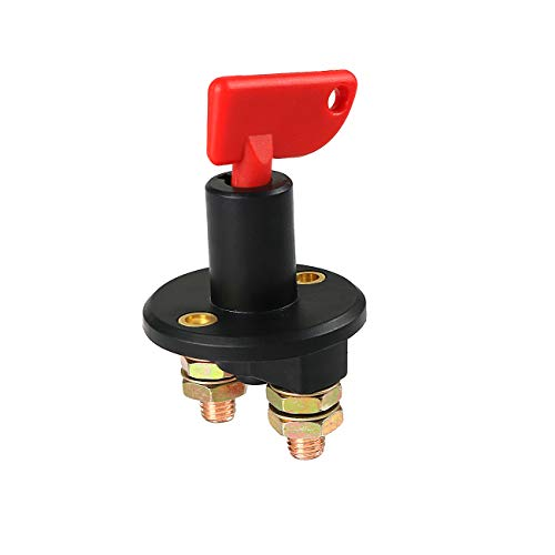 Automotive Car Battery Isolator Disconnect Cut Off Kill Switch for Marine Car Boat RV ATV Vehicles Camper Yacht winches etc - 2 Installing Holes