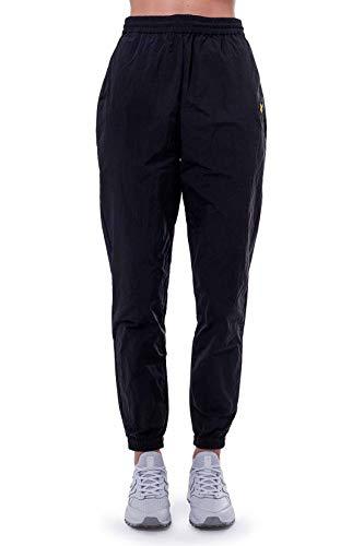Lyle & Scott - Pantalones de running para mujer de nailon. Negro S