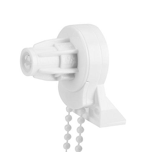 Changor Kit de reparación de persiana enrollable, montaje superior con estor de plástico fijo (blanco)